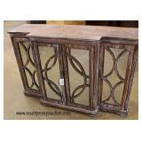 NEW 4 Door Mirror Front Decorator Credenza  Auction Estimate $200-$400 – Located Inside