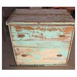 ANTIQUE 2 Drawer Country Sugar Chest  Auction Estimate $200-$400 – Located Inside