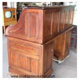 """NICE ANTIQUE All Original Oak """"S"""" Roll Top Desk with Panel Sides and Privacy Board  Auction Estimate"""