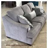 "NEW ""Ashley Furniture Signature Design"" Contemporary Decorator Sofa with Decorative Pillows  Auction"