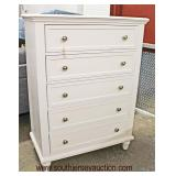 NEW Contemporary White Paint Decorated High Chest  Auction Estimate $100-$300 – Located Inside