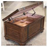 NEW Contemporary Trunk Style Lift Top Coffee Table with Storage  Auction Estimate $100-$300 – Locate