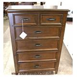 """NEW """"Liberty Furniture"""" Contemporary 2 over 4 Drawer High Chest with Tag  Auction Estimate $100-$300"""