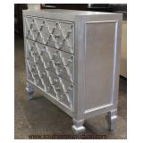 NEW 3 Drawer Contemporary Decorator Low Chest  Auction Estimate $100-$300 – Located Inside