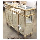 NEW Decorator Hollywood Style Mirrored 3 Drawer 4 Door Credenza  Auction Estimate $200-$400 – Locate