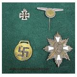 Selection of German Military Badges and Pins  Auction Estimate $100-$500 – Located Glassware