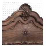 PAIR of ANTIQUE Country French Carved Twin Beds with Rails  Auction Estimate $200-$400 – Located Ins