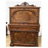 ANTIQUE Walnut Burled Victorian Slant Front Desk in the Original Finish  Auction Estimate $200-$400