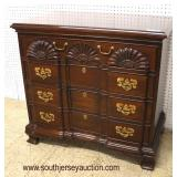"""SOLID Mahogany """"Harden Furniture"""" Shell Carved 4 Drawer Bachelor Chest  Auction Estimate $300-$600 –"""