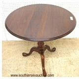 "Mahogany ""Ethan Allen Furniture"" Tilt Top Table  Auction Estimate $200-$400 – Located Inside"