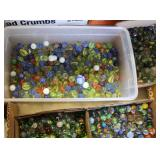 Selection of VINTAGE Box Lots of Marbles  Auction Estimate $20-$80 – Located Glassware