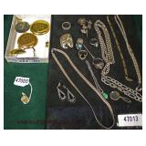 Selection of Sterling and Gold Jewelry  Auction Estimate $20-$200 – Located Glassware