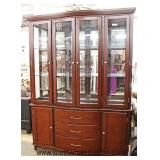 Mahogany 2 Piece Mirror Back China Cabinet  Auction Estimate $100-$300 – Located Inside