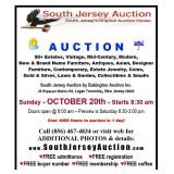 4000 items auctioned in ONE day to the highest and best bidders FREE admittance FREE buyer number FREE registration FREE memberhip - ♥ our early birds free coffee South Jersey Auction by Babington