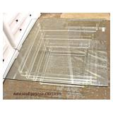 Modern Design Lucite Base and Glass Top Coffee Table  Auction Estimate $100-$300 – Located Inside