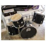 """5 Piece """"Percussion Plus"""" Drum Set  Auction Estimate $100-$300 – Located Glassware"""