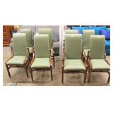 """Set of 8 """"Henredon Furniture"""" Upholstered Dining Room Chairs  Auction Estimate $300-$600 – Located"""