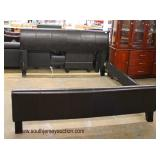King Size Leather Contemporary Bed  Auction Estimate $200-$400 – Located Inside