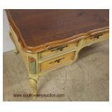 Paint Decorated Natural Pine Top Decorator Executive Desk  Auction Estimate $200-$400 – Located Ins