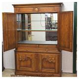 IMG_7166 auction  Country French Style 2 Piece 4 Door Mirrored Back Liquor Bar  Auction Estimate $30