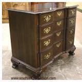 "SOLID Mahogany ""Ethan Allen Furniture"" Block Front Bracket Foot Bachelor Chest  Auction Estimate $3"