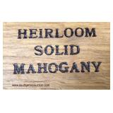 """SOLID Mahogany """"Heirloom Collection"""" Shell Carved Block Front bracket Foot Bachelor Chest  Auction"""