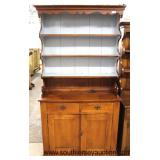 Antique Style Pine Step Back Pewter Cupboard  Auction Estimate $300-$600 – Located Inside