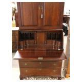 "SOLID Mahogany ""Craftique Furniture"" 2 Piece Blind Door Secretary Bookcase  Auction Estimate $400-$"