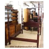 """Queen """"Kincaid Furniture"""" SOLID Mahogany 4 Poster Bed  Auction Estimate $200-$400 – Located Inside"""