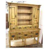 Paint Decorate 2 Piece Buffet with Hutch Top  Auction Estimate $300-$600 – Located Inside