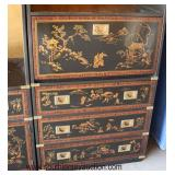 2 Piece Asian Decorated Wall Cabinet  Auction Estimate $100-$300 – Located Dock