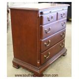 Mahogany Bracket Foot Bachelor Chest with Pull Out Tray  Auction Estimate $100-$300 – Located Insid