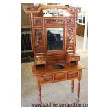 Asian Inspired Carved Mahogany Washstand  Auction Estimate $100-$300 – Located Inside