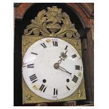 ANTIQUE Oak Carved Grandfather Clock  Auction Estimate $400-$800 – Located Inside