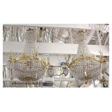 Selection of Chandeliers including: French Style, Modern, and Vintage  Auction Estimate $50-$500