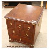 Mahogany 6 Multi Drawer Bracket Foot Chest  Auction Estimate $20-$50- Located Inside