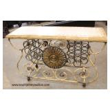 NEW Contemporary Iron and Stone Decorator Wine Bar – Very Cool  Auction Estimate $300-$600 – Locate