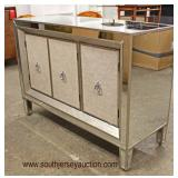NEW Decorator Mirrored 3 Door Credenza  Auction Estimate $200-$400 – Located Inside