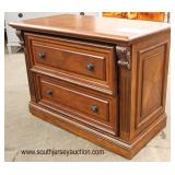 NEW Contemporary Mahogany Finish Inlaid and Banded 2 Drawer File Cabinet  Auction Estimate $100-$30