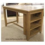 NEW Rustic Country Farm Style High Top Breakfast Table with Bookcase Ends  Auction Estimate $200-$4