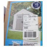 "NEW ""Suncast Tremont"" Plastic Shed Model # BMS8700 (2 Box Kit)  approximately 8'4""x7'x2""x8'4"" outsi"