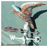 Copper Eagle Weather Vane with Nice Patina  Auction Estimate $200-$400 – Located Field