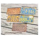 Selection of VINTAGE Collector License Plates  Auction Estimate $20-$100