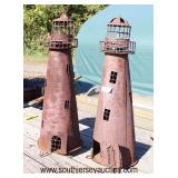 Selection of Decorator Outdoor Items Including Stars and Lighthouses  Auction Estimate $50-$200 – L