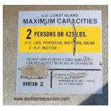 """Bass Tracker Bantam II"" Boat  US Coast Guard Rated 2 Person (425lb)  Auction Estimate $300-$600 –"