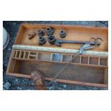 """Assortment of Primitive Wood Tool Boxes  """"Black and Decker"""" and Other  Auction Estimate $20-$100 –"""