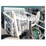 Selection of Wood Glider, (2) Piece Corner Garden Fence, Outdoor Furniture and much much more  Auct