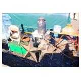 Selection of Wicker Patio Furniture, Lawn Mower, Blower, Birdcage and much much more  Auction Estim