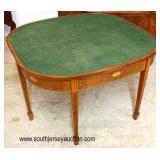 """SUPER CLEAN Mahogany Inlaid """"Baker Furniture Charleston Collection"""" Oversized Flip Top Game Table w"""