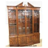 "Beautiful  ""Baker Furniture"" Burl Mahogany 4 Drawer China Cabinet  Located Inside – Auction Estimat"